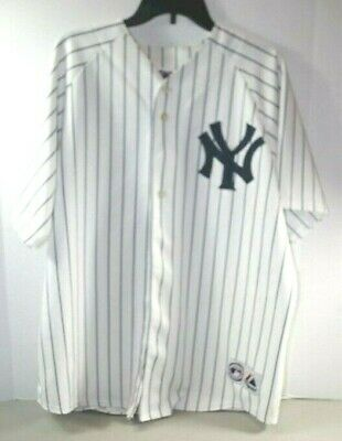 5ae27f53a0e NEW YORK YANKEES Johnny Damon 18 White Majestic Jersey Men s XL ...