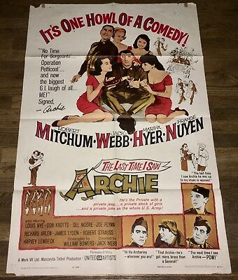 Last Time I Saw Archie (1961) Robert Mitchum / Jack Webb Military Comedy 1S!
