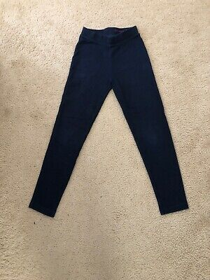 Pre-owned Crewcuts Girls Navy Cozy Leggings Size 8
