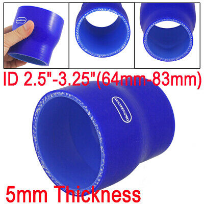 "2.5"" - 3.25"" 64mm to 83mm Silicone Hose Straight Reducer Coupler Turbo Intake"