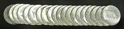 Roll of 20 1964 Kennedy Half Dollars all AU/UNC 90% Silver
