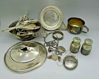 512 Grams SOLID Sterling Silver Scrap Not Scrap CLEAN Gorham Cup Others AUCTION