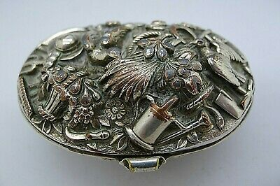 Rare Silver Plate 19th Century Silver Etrog Unusual Items Box INCREDIBLE OLD