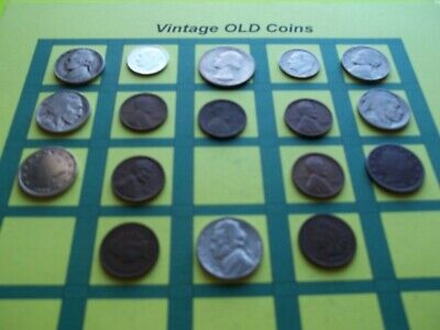 Estate Lot of Old Coins 50 to 125 Years Old with Some Silver  16 Coins  (OC8)