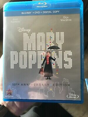 Mary Poppins (Blu-ray/DVD, 2013, 2-Disc Set, 50th Anniversary Edition...