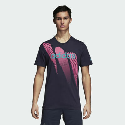 NWT Adidas Men's Climalite Season Tee Dark Blue Variety Sizes