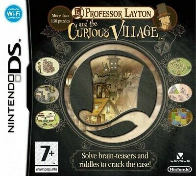 Nintendo DS game - Professor Layton and the Curious Village cartridge