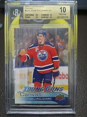 2016 Upper Deck UD Canvas #C212 Young Guns Jesse Puljujarvi BGS 10 PRISTINE Card