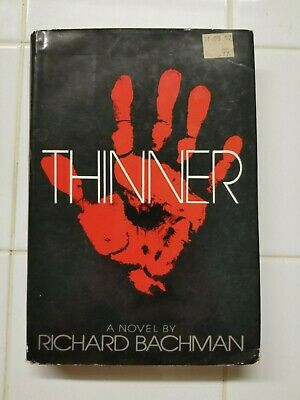 STEPHEN KING as RICHARD BACHMAN ~ THINNER ~ 1984 ~ BOOK CLUB EDITION ~ NICE COND