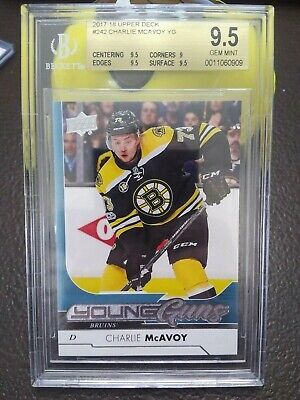 2017-18 Ud Series 1 Hockey Charlie Mcavoy Rookie Young Guns Card #242-Bgs 9.5