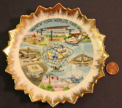 1964-65 New York World's Fair U.S. Steel Unisphere plate-Monorail-Hawaii & MORE*