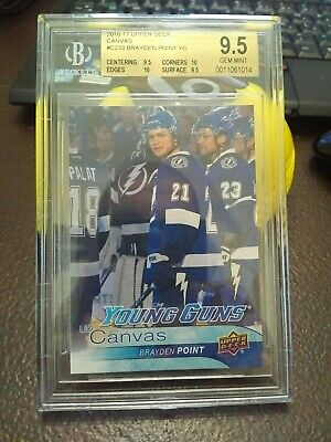 2016-17 Upper Deck Young Guns UD Canvas C233 True Gem BGS 9.5 - Brayden Point