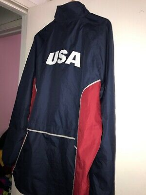 97e9c09a158 Nike National Team USA Soccer World Cup Olympic Warm Up Wind stopper Jacket  L