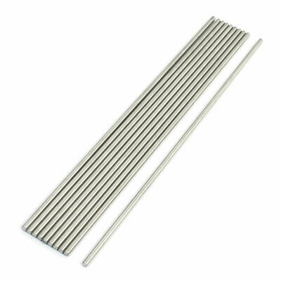 Lathe 200mm x 3mm Stainless Steel Axle Round Stock Drill Rod Bar 10Pcs