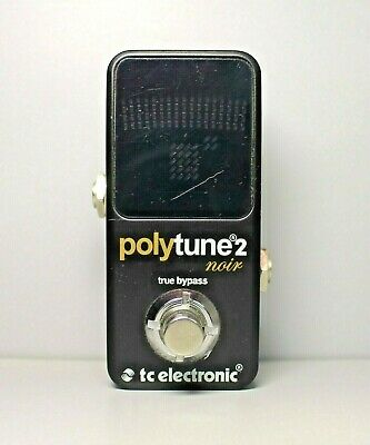 TC Electronic Polytune 2 Noir Ultra Compact Guitar Tuner Pedal LED Display COOL!