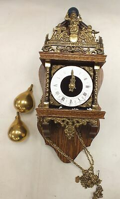 VINTAGE Dutch NU ELCK SYN SIN Wooden Wall Hanging Cuckoo Clock - W39