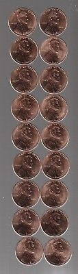 2004  to  2019 P&D  ~YOU  PICK  ANY 20  DIFFERENT  BU  LINCOLN CENTS  incl 2009~