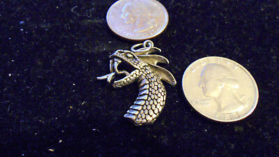 bling pewter myth STONEHENGE CELT dragon pendant charm leather necklace JEWELRY