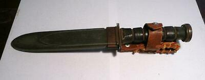 WWII USN MK2 survival KNIFE RCC ROBESON CUTLERY CO. WITH NORD  SCABBARD