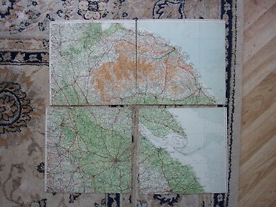 The Times Contour Motoring Map Of East Yorkshire & North Lincolnshire 1922