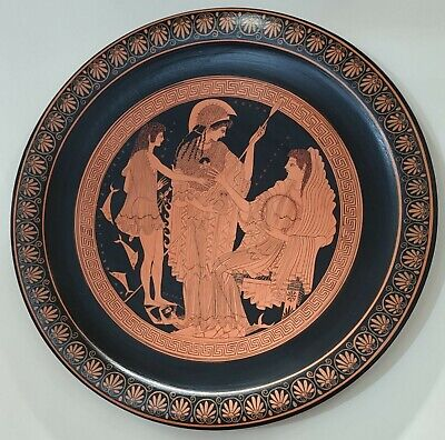 Plate Ancient Greek Pottery Museum Replica Reproduction
