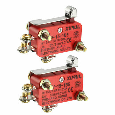 XURUI Authorized 2Pcs Hinge Roller Lever Action Micro Limit Switches
