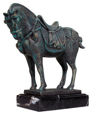 Ancient Chinese Tang Horse Cast Iron Museum Reproduction Sculpture Statue