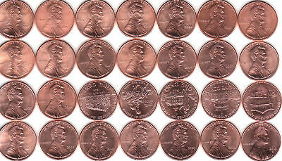 2000 to 2019  P+D /  LINCOLN CENT UNC mixed ROLL  /  LOTS  of  NICE BU COINS !