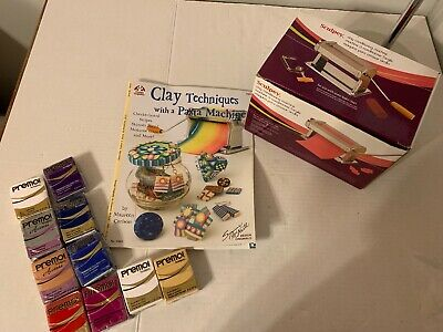 Sculpey Clay Conditioning Machine New 10 Premo clay and book  C15