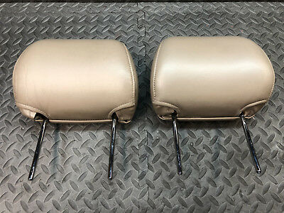 1996-02 Toyota 4Runner Tan Leather FRONT Seat Head Rests 96 97 98 99 00 01 02 OE