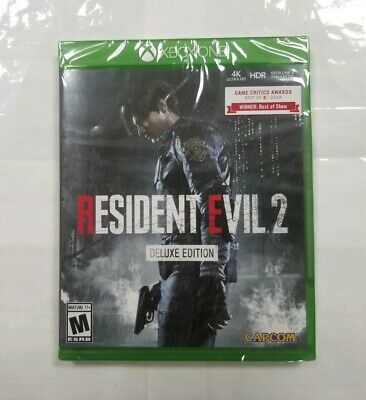 """Resident Evil 2 *Deluxe Edition* (Microsoft Xbox One, 2019) """"NEW/SEALED"""""""