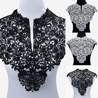 1 Pc Applique Lace Fabric Sewing Embellishments Trims DIY Neck Collar Striking