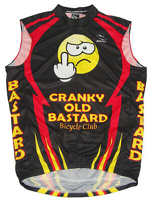 SALE $24.95 Cranky Old Bastard Cycling Team Jersey Mens Sleeveless Free Shipping