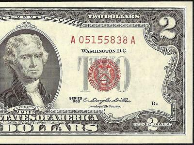 $2 1963 Red Seal Legal Tender currency Graded 66 PCGS GS OPQ FR#1513  GEM UNC