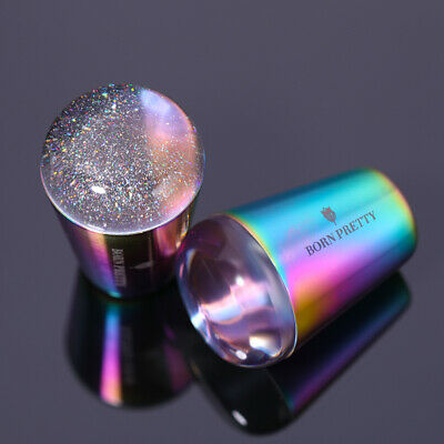 BORN PRETTY Transparent Starry Nail Stamper  Handle Stamping Nail Tool