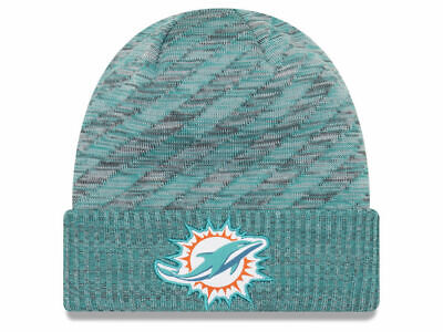 size 40 d65ff db03a Miami Dolphins New Era NFL 2018 NFL Sideline Cold Weather Official TD Knit  Aqua