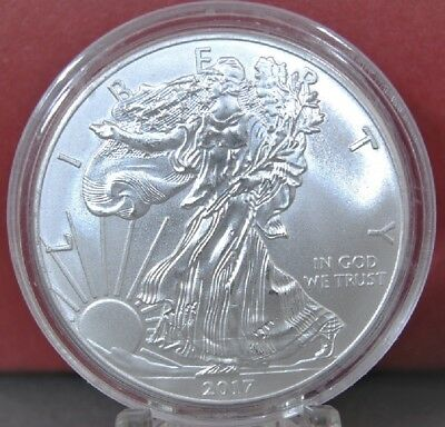 2017 Silver American Eagle BU 1 oz Coin US $1 Dollar Uncirculated U.S. Mint *217