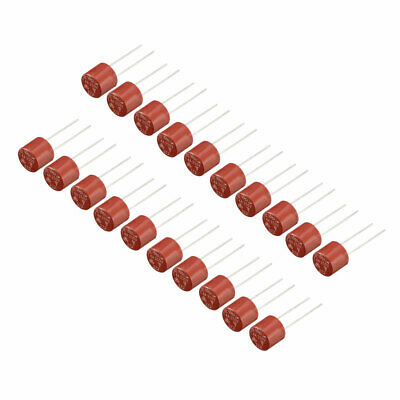 20Pcs DIP Mounted Miniature Cylinder Slow Blow Micro Fuse T4A 4A 250V Red