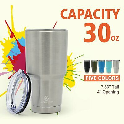 ALPHA CAMP 30oz Tumbler Cup Stainless Steel Cooler Vacuum Insulated Tumbler