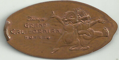 Disney's Grand Californian Hotel Chip and Dale Elongated Penny - Copper