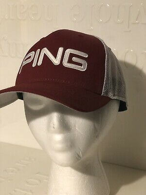 e7fca890a8fd7 2018 Ping Tour Mesh Trucker Red White Adjustable Snapback Golf Hat Cap