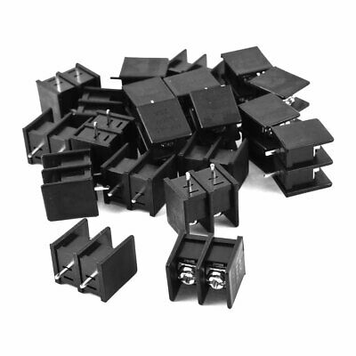 20 Pcs 2 Position PCB Mounting Screw Terminal Block Connector 300V 25A