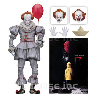 """7"""" PENNYWISE figure ULTIMATE IT modern remake 2017 CLOWN stephen king NECA 2018"""