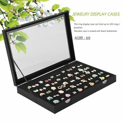 Ring Earring Jewelries Display Storage Box Tray Holder Show Case Organiser