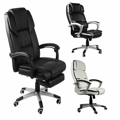 Home Office Computer Gaming Desk Chair PU Leather Recliner Sport Racing Chair UK