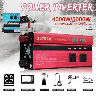 4000W/5000W Car LED Solar Power Inverter DC to AC Sine Wave Converter Electronic