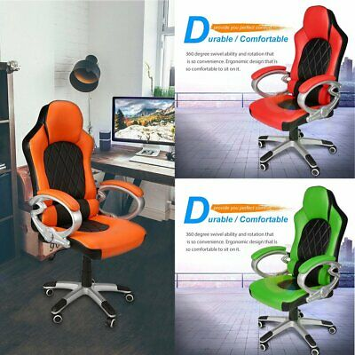Adjustable Computer Office Chair gas-lift Support Gaming Sports Racing swivel