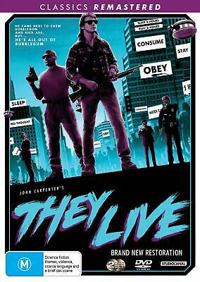 THEY LIVE (1988 - 2019 Remastered): Classic, Horror, Sci-Fi - NEW Au Rg4 DVD