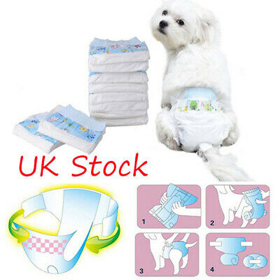 Pet Dog Puppy Disposable Diaper Diapers Outdoor Nappy Physiological Underwear UK