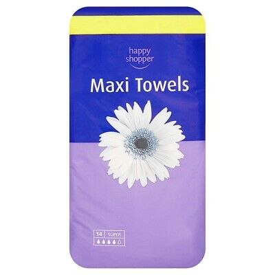 Happy Shopper Maxi Towels Super 24 x 14 (336 Total) 217275